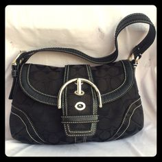 Coach Signature Black Handbag