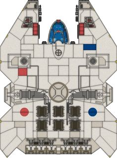 A ship loaned to the party in my star wars RPG game, the IT327 took some damage…