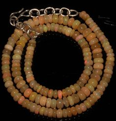 "62 Crts 1 Strands 4 to 6 mm 16"" Beads necklace  Ethiopian Welo Opal  AA+++834"