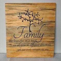Pine Family Tree Plaque.
