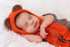 Ewok inspired hood Star Wars baby crochet by xoxoTouchofLovexoxo, $20.00