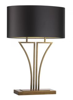 Yves Antique Brass Table Lamp - Heathfield & Co