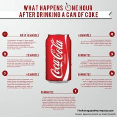 This Infographic Shows the Crazy Health Effects of Drinking Coca Cola — A New Graphic Shows What Happens To Your Body When You Drink a Coke What Happened To You, What Happens When You, Coca Light, Low Carb Paleo, Vida Low Carb, Effects Of Drinking, Coke Cans, Nutrition Education, Nutrition Guide