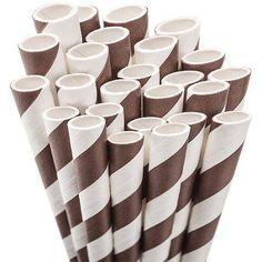 Jumbo Straw Unwrapped, 7-3/4 inch, 50/Pkg, Brown