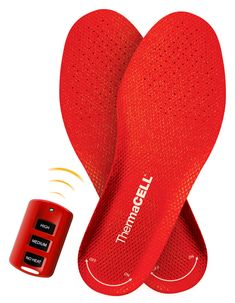 Heated Insoles Foot Warmer. How amazing would these be during a cold football game?!