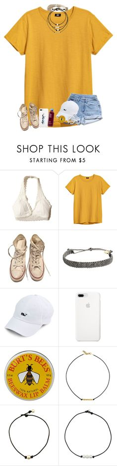 """Summer hike"" by taryn24 ❤ liked on Polyvore featuring Hollister Co., Levi's, Converse, Pura Vida, Burt's Bees and Vanessa Mooney"