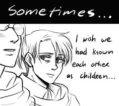 late levihan week: childhood I'm still fucked up over the thought of hange fixing levi's broken teacup with science, punch me in the kokoro. Attack On Titan Funny, Attack On Titan Ships, Attack On Titan Anime, Hanji And Levi, Aot Characters, Eremika, I Hate People, Levihan, I Ship It