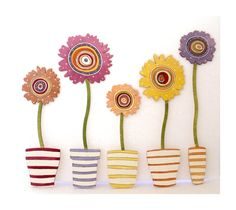 Handpainted wooden Wall Stickers  FlowerPower 5 by byAnnoDomini