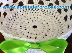 CESTAS EM CROCHE PARA PÁSCOA PARTE 1 - APRENDER CROCHE Knitting Videos, Crochet Videos, Crochet Home, Knit Crochet, Bath Decor, Crochet Designs, Lana, Embroidery, Stitch