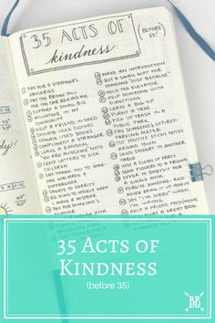 35 Acts of Kindness Before 35
