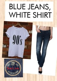 Bue jeans, White shirt #salsajeans #simplychic