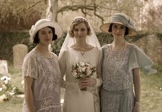 The Crawley sisters on what was supposed to be Edith's wedding day.
