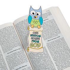 Our Wisdom Comes From God Bookmark - OrientalTrading.com