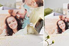 Das Brautpaar ganz groß. So sind die Zusagen zur Hochzeit gesichert. Deswegen führen Hochzeitseinladungen mit großen Fotos die Liste der Top Ten der Hochzeitstrends an. #Hochzeitstreds2016, #Hochzeitseinladungen, #Foto, #Brautpaar