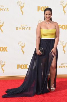 Actress Dascha Polanco attends the 67th Annual Primetime Emmy Awards at Microsoft Theater on September 20, 2015 in Los Angeles, California.