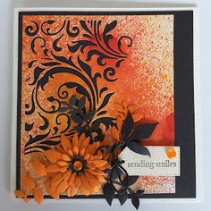 Focus on Papercraft: Bright card using Tim Holtz mixed media die from S...