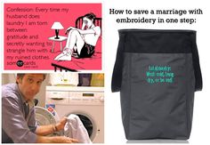 How to save a marriage in one easy step - the Thirty-One GIfts Stand Tall Bin with LuLaLaundry embroidery! #thirtyone #lularoe #bagladyhideaway