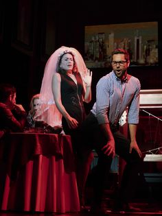 Zachary Levi and Kate Loprest in First Date on #Broadway.