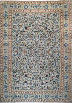 """Kashan Persian Rug, Buy Handmade Kashan Persian Rug 11' 6"""" x 16' 10"""", Authentic Persian Rug"""
