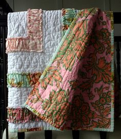 Ruffle Quilt - backing by twinfibers, via Flickr
