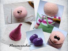 Gnome - amigurumi PDF crochet pattern.