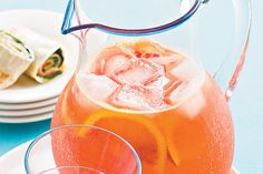 Blood orange and ruby grapefruit punch