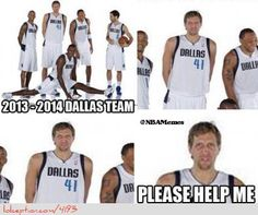 Dirk Nowitzki needs help! - http://weheartlakers.com/nba-funny-meme/dirk-nowitzki-needs-help