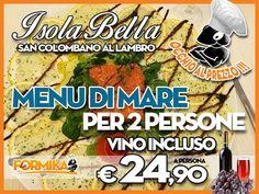 Isola Bella San Colombano. Coupon per gran cena a € 24,90!  #laformika #lodi #expo2015 #ristoranti #lombardia
