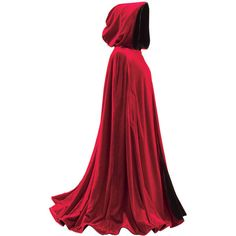 Black And Red Reversible Cape ($120) ❤ liked on Polyvore featuring outerwear, jackets, capes, cloaks, dresses, accessories, cloak cape, velvet cloak, cape coat and hooded cape