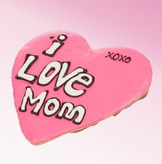 This giant hand iced shortbread cookie features a Giant Love Mom Heart Shaped cookie. This hand iced shortbread cookie is perfect for any gift giving occasion. Put a BIG smile on their face and in their tummy too with this giant hand decorated Sugar Cook Mother's Day Cookies, Cute Cookies, Holiday Cookies, Sugar Cookies, Mothers Day Baskets, Mother's Day Gift Baskets, Miss Mom, I Love Mom, Best Mothers Day Gifts