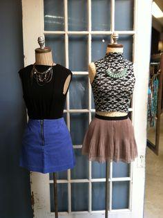 Bold jewelry and Geometric prints! Store Mannequins, Waist Skirt, High Waisted Skirt, Geometric Prints, Bold Jewelry, Denim Skirt, Skirts, Fashion, Moda