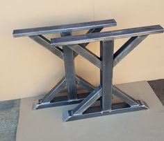 Heavy Duty Trestle Steel Tubing Legs. Load up to 1000 lbs. on this set of 2 legs. This listing is for set of 2 Steel Tubing Trestle Legs. - Made from