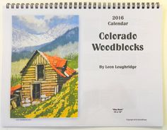Calendar 2016, New Woodblocks by Leon Loughridge Price include postage within US.