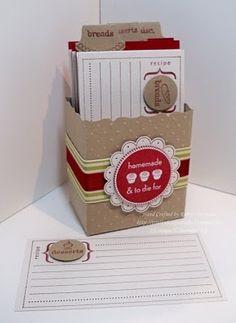 Stampin' Up! Fancy Favor Box Robin Merriman Recipe Box