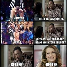 Miley Cyrus Eat A Snickers Funny Robin Williams Commercial Remake