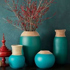 west elm pine needle vases