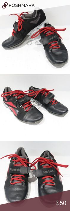 f25f33579ebb Reebok Crossfit U Form Mens Weight Lifting Shoes Reebok Crossfit U Form Mens  Weight Lifting Black Red Athletic Shoes Size 8 In Good Used Condition Reebok  ...