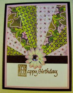 Inky Hugz!!! : A Sunburst Card - Sunburst Technique - Birthday Card