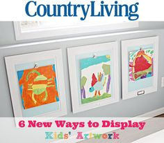 10Extra! Extra! Organizing Reads!  And Monthly Challenge News! Ideas for hanging children's artwork