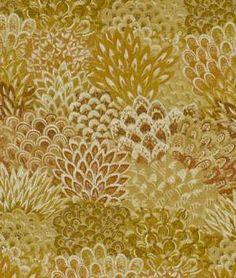 Robert Allen Feather Fans Paprika Fabric - $61.15   onlinefabricstore.net