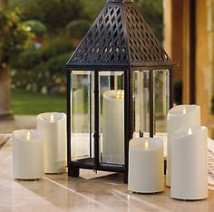 Light up the night safely and in style with Luminara candles. These wax pillar flameless candles feature a built-in timer and are battery operated. Click through to see more options on our website. www.buckscountrygardens.com