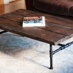 Gas pipe coffee table
