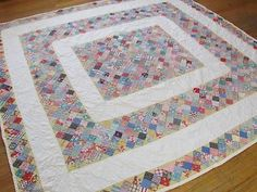 Vintage 1930-40s Feedsack POSTAGE STAMP QUILT TOP Completely ... : feedsack quilts for sale - Adamdwight.com