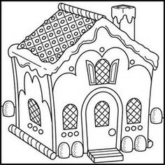 unusual gingerbread house coloring pages - photo#6