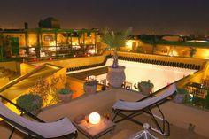 Riad Karmela rooftop terras, Marrakech