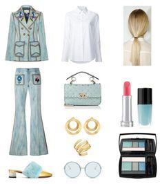 """The Perfection of Fashion look"" by maria-dimitradiou on Polyvore featuring Gucci, Misha Nonoo, Valentino, Anissa Kermiche, Lana, Linda Farrow and Lancôme"