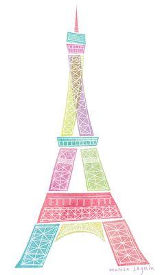 pink & light blue....paris
