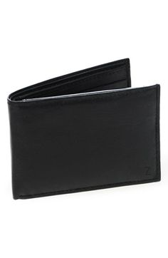 Men's Cathy's Concepts 'Kensington' Personalized Bifold Wallet - Grey