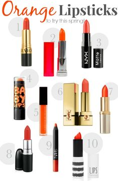 orange lipstick to try this spring