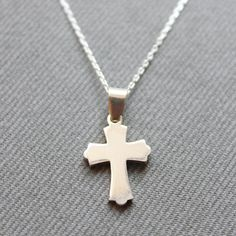 Sterling Silver Cross Necklace  Cross Charm by LibertaFashion, $22.50